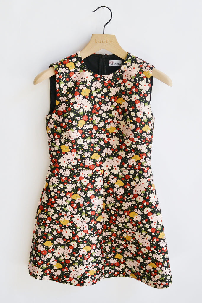 RED Valentino Little Flower Jacquard Dress Chelsea Microflower