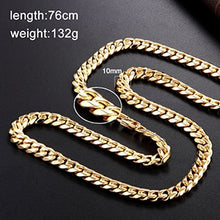 Load image into Gallery viewer, Stainless steel men and women models solid color necklace length chain punk fashion jewelry length can be customized