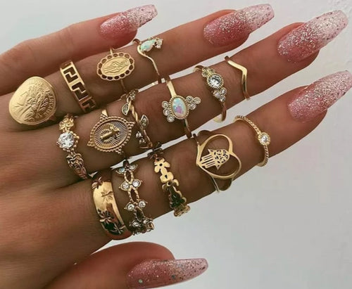 Lot of women's rings [collection Rosalia] model 04