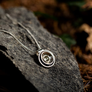 Handmade Irish Jewellery Simon Barber Jewellery Full Moon Pendant