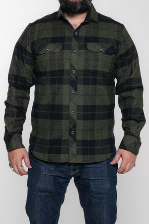 Tobacco Flannel - Forest Green