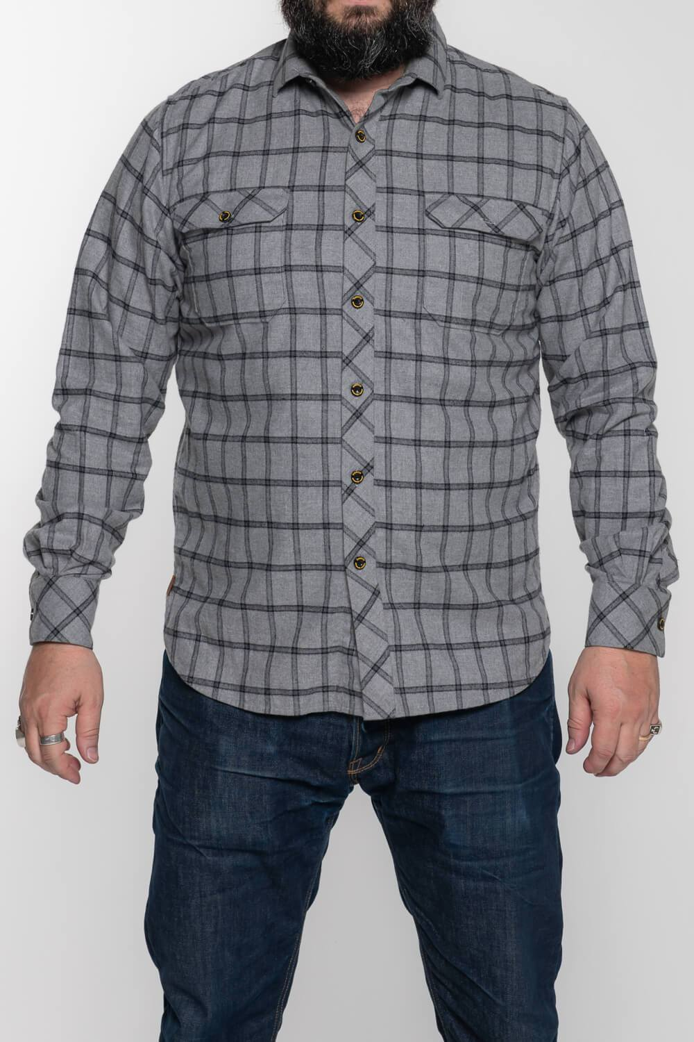 Tobacco Flannel - Grey
