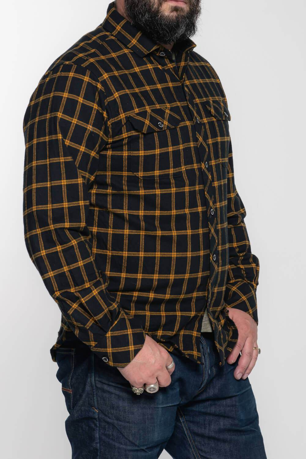 Tobacco Flannel - Blk/Yellow