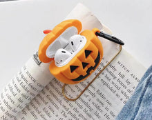 Load image into Gallery viewer, Pumpkin Jack O' Lantern Premium AirPods Case Shock Proof Cover