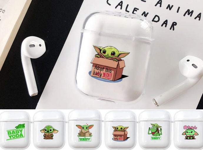 Baby Yoda Clear Acrylic AirPods Case Shock Proof Cover