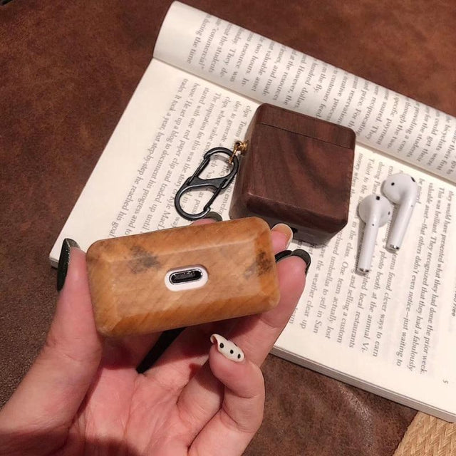 Ash Wood AirPods Case Shock Proof Cover-iAccessorize