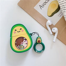 Load image into Gallery viewer, Avacado 'Snow Globe Belly' Premium AirPods Case Shock Proof Cover-iAccessorize