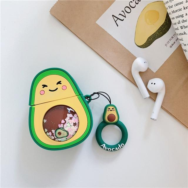 Avacado 'Snow Globe Belly' Premium AirPods Case Shock Proof Cover-iAccessorize