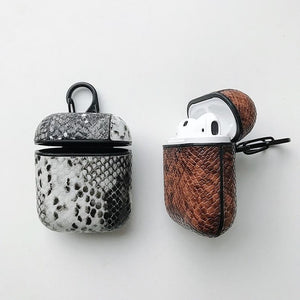 Black and White Boa AirPods Case Shock Proof Cover-iAccessorize