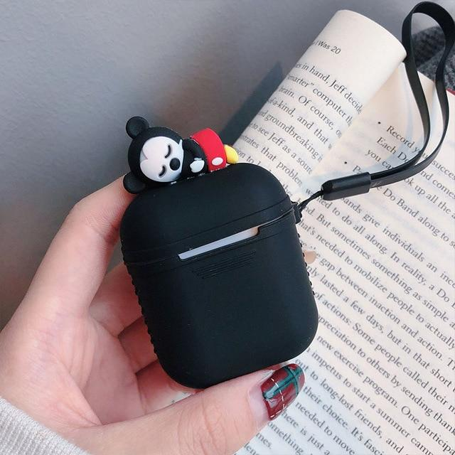 Black Baby Mickey AirPods Case Shock Proof Cover-iAccessorize