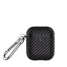 Load image into Gallery viewer, Black Carbon Fiber Airpod 2 Case Wirless Charging Shock Proof Cover-iAccessorize