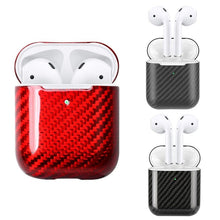 Load image into Gallery viewer, Black Carbon Fiber Premium AirPods Case Shock Proof Cover-iAccessorize