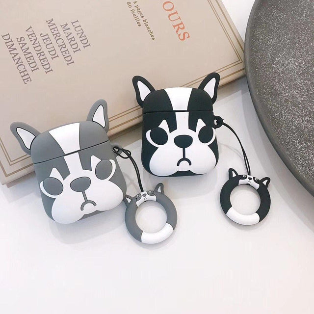 Black Doggy AirPods Case Shock Proof Cover-iAccessorize