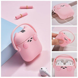 Black Headphones Cat AirPods Case Shock Proof Cover-iAccessorize