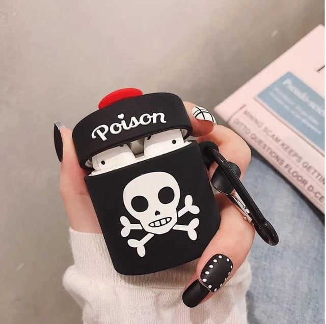 Black Poison Bottle Premium AirPods Case Shock Proof Cover-iAccessorize