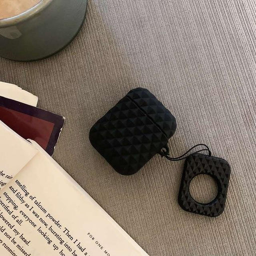 Black Textured AirPod Case Shock Proof Cover-iAccessorize