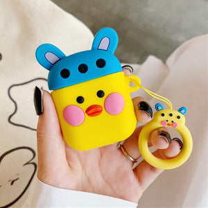 Blue Hat Duck AirPods Case Shock Proof Cover-iAccessorize