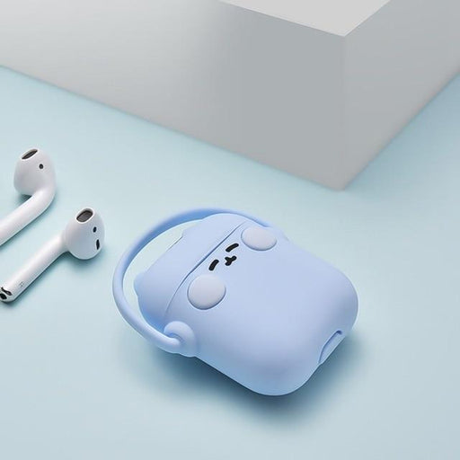 Blue Headphones Cat AirPods Case Shock Proof Cover-iAccessorize