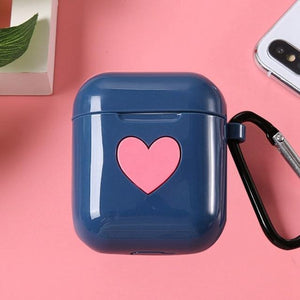 Blue Heart AirPods Case Shock Proof Cover-iAccessorize