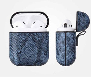 Blue Mamba Snakeskin AirPods Case Shock Proof Cover-iAccessorize
