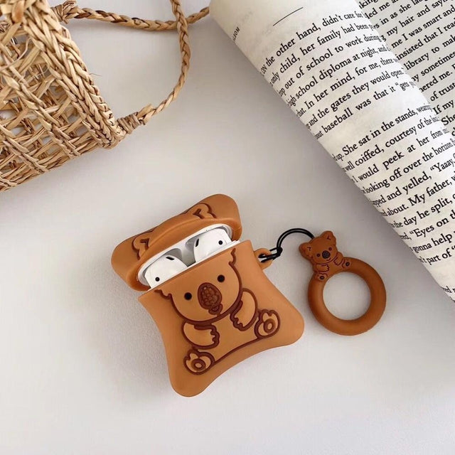 Brown Koala Pillow Premium AirPods Case Shock Proof Cover-iAccessorize
