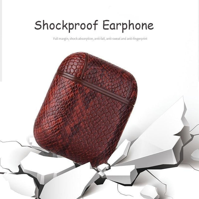 Brown Rattle Snake AirPods Shock Proof Cover-iAccessorize