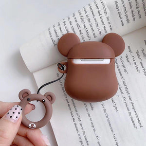 Brown Teddy Bear AirPods Case Shock Proof Cover-iAccessorize