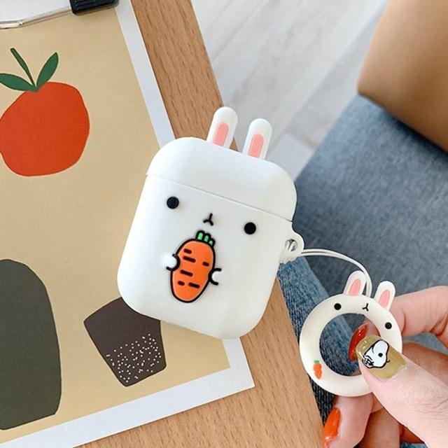 Bunny Carrot AirPods Case Shock Proof Cover-iAccessorize
