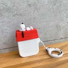 Load image into Gallery viewer, Charlie Brown 'Snoopy on Shed' Premium AirPods Case Shock Proof Cover-iAccessorize