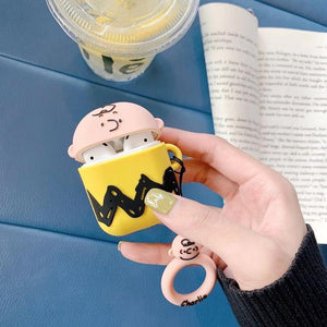 Charlie Brown 'T-Shirt' Premium AirPods Case Shock Proof Cover-iAccessorize