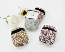 Load image into Gallery viewer, Dark Pink Rhinestone AirPods Case Shock Proof Cover-iAccessorize