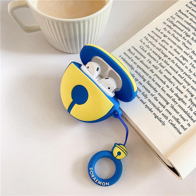 Doraemon 'Blue Bell' Premium AirPods Case Shock Proof Cover-iAccessorize