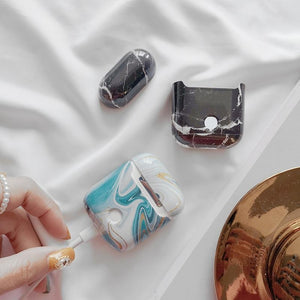 Dumortierite Marble AirPods Case Shock Proof Cover-iAccessorize