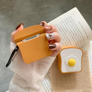 Eggs on Toast Premium AirPods Case Shock Proof Cover-iAccessorize