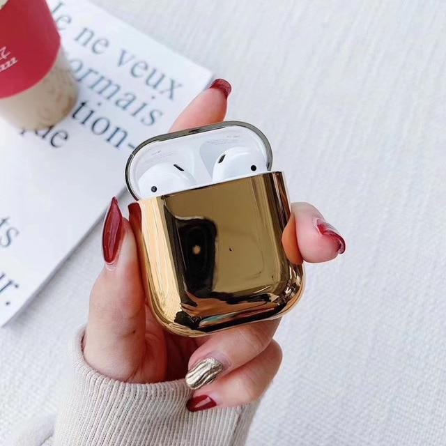Gold Plated AirPods Case Shock Proof Cover-iAccessorize