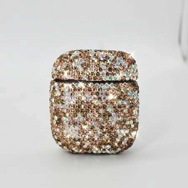 Gold Rhinestone AirPods Case Shock Proof Cover-iAccessorize