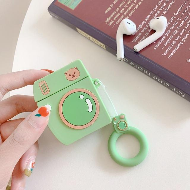 Green Bear Camera AirPods Case Shock Proof Cover-iAccessorize