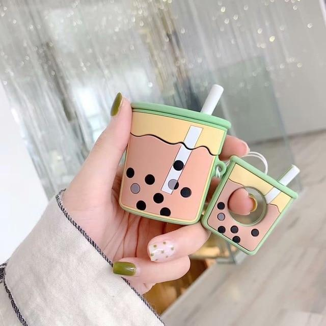 Green Bubble Tea AirPods Case Shock Proof Cover-iAccessorize