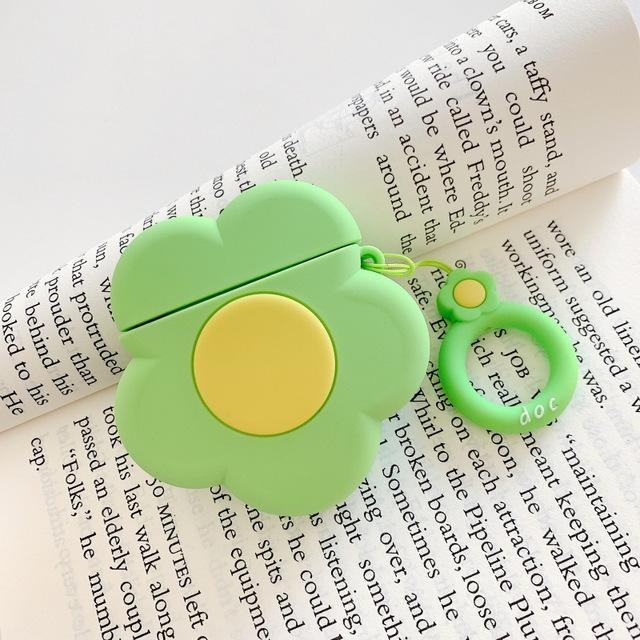 Green Flower Premium AirPods Case Shock Proof Cover-iAccessorize