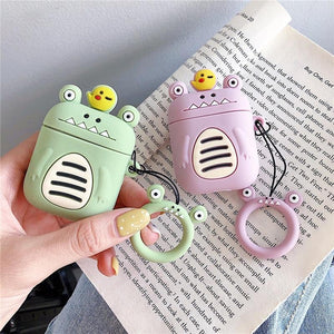 Green Little Monster AirPods Case Shock Proof Cover-iAccessorize