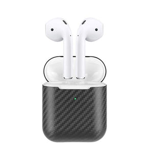 Grey Carbon Fiber Premium AirPods Case Shock Proof Cover-iAccessorize