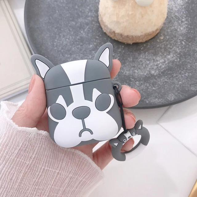 Grey Doggy AirPods Case Shock Proof Cover-iAccessorize