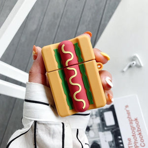 Hot Dog Premium AirPods Case Shock Proof Cover-iAccessorize