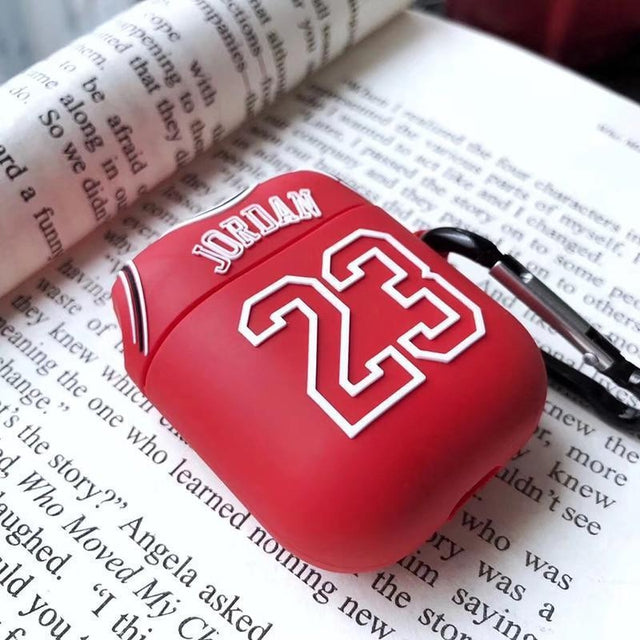 Jordan 23 Red AirPods Case Shock Proof Cover-iAccessorize