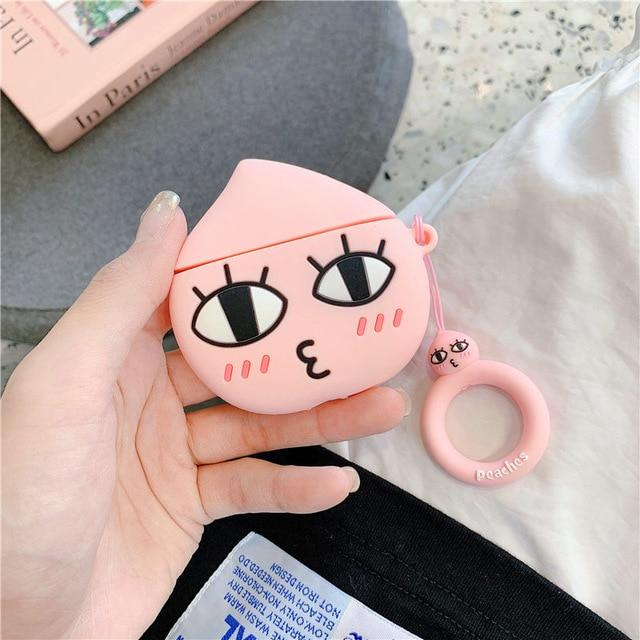 Kakao Friends 'Apeach' Premium AirPods Case Shock Proof Cover-iAccessorize