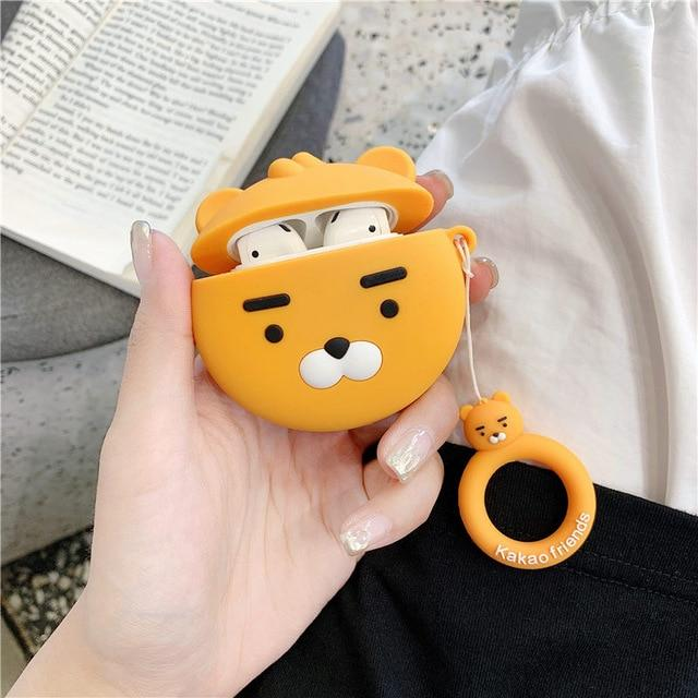 Kakao Friends 'Ryan' Premium AirPods Case Shock Proof Cover-iAccessorize