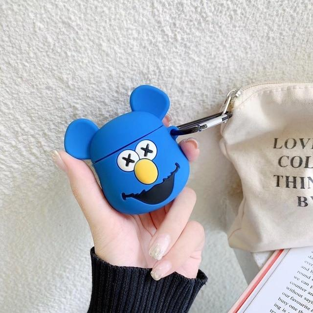 KAWS Blue Fozzy Bear Premium AirPods Case Shock Proof Cover-iAccessorize