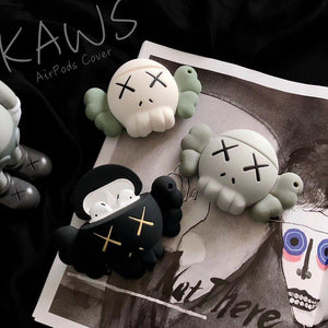 KAWS Grey Skull Premium AirPods Case Shock Proof Cover-iAccessorize
