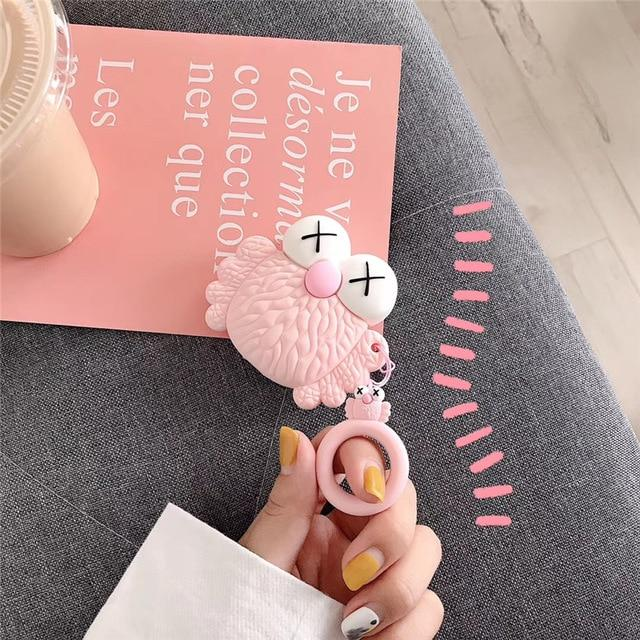 KAWS Pink Owl AirPods Case Shock Proof Cover-iAccessorize