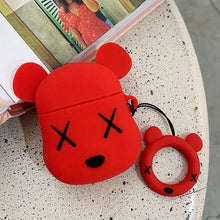 Load image into Gallery viewer, KAWS Red Bear Premium AirPods Case Shock Proof Cover-iAccessorize